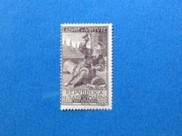 1923 SAN MARINO FRANCOBOLLO NUOVO STAMP NEW MNH** PRO SOCIETA MUTUO SOCCORSO - San Marino