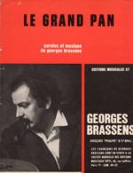 PARTITION GEORGES BRASSENS - LE GRAND PAN - 1965 - TB ETAT - - Otros