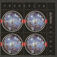 """CROACIA / CROATIA /HRVATSKA  - EUROPA 2009  - TEMA  """"ASTRONOMIA"""" - SERIE De 2 V.  En BLOQUE De 4- DENTADA  (PERFORATED) - Europa-CEPT"""