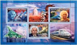 Guinea 2006 MNH - Albert Einstein - Space - Concorde - Train - YT 2685-2687, Mi 4287-4289 - Guinée (1958-...)