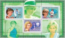 Guinea 2006 MNH - Lady Diana - YT 2715-2717, Mi 4335-4337 - Guinee (1958-...)