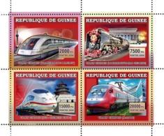 Guinea 2006 MNH - Trains Chinois. YT 2783-2786, Mi 4385-4388 - Guinea (1958-...)