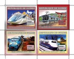 Guinea 2006 MNH - Trains Japonais - YT 2823-2826, Mi 4389-4392 - Guinea (1958-...)