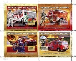 Guinea 2006 MNH - Vehicules Europeens D'Incendie - YT 2851-2854, Mi 4441-4444 - Guinea (1958-...)