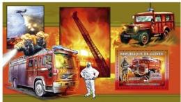 Guinea 2006 MNH - Vehicules Francais D'Incendie - YT 457, Mi 4459/BL1073 - Guinea (1958-...)