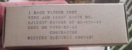 Tube, Lampe Radio Us Signal Corps Ww2 Datée 1943/1944 Western Electric Company - Radio's