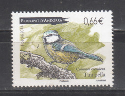 ANDORRA ( FR)  2014- Bird- Eurasian Blue Tit -MNH- Cyanistes Caeruleus - French Andorra