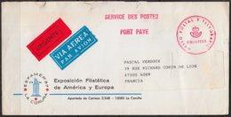 """ESPAMER 87   LA CORUNA  Espagne Enveloppe Avec Cachet """" URGENTE """" Pour 47000 AGEN    Par Avion - 1875-1882 Kingdom: Alphonse XII"""