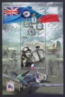 CZECH REPUBLIC 2019 - Czechoslovak PILOTS In The Royal AIR FORCE, Miniature Sheet MNH (SPECIMEN) - Blocks & Sheetlets