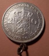 Pays-Bas, 2 ½ Gulden 1930, WILHELMINA I , En Argent - 2 1/2 Gulden