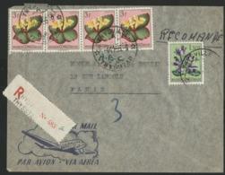 """CONGO BELGE """"THYSVILLE A"""" Recommandé / Obl. Cachet à Date Sur N° 312 + 314 (x2). Sur Env. Par Avion Pour La France. - 1947-60: Covers"""