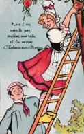 """FANTAISIE A SYSTEME """"NON! NE MONTE PAS SOULEVE MA ROBE ET TU VERRAS CHALONS SUR MARNE """" REF 61221 - Châlons-sur-Marne"""
