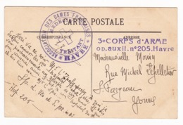 Association Des Dames Françaises Medecin Traitant Le Havre Première Guerre Mondiale 3e Corps D'Armée - WW1