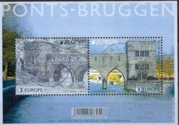 2018 Belgien Mi. Bl. 224 Used    EUROPA : Brücken  Pont Des Trous, Tournai - 2018