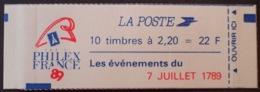R1615/1293 - TYPE LIBERTE De DELACROIX - CARNET NEUF** Fermé - N°2376-C12 - Carnets