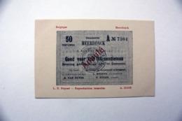 Meerdonck  Meerdonk  Sint-Gillis-Waas  Noodgeld Eerste Wereldoorlog 50 Centiemen - Sint-Gillis-Waas