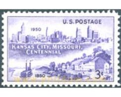 Ref. 161527 * MNH * - UNITED STATES. 1950. CENTENARIO DE FUNDACION DE KANSAS CITY - United States