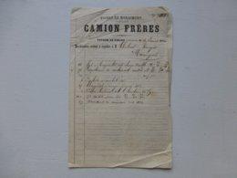 08 Vivier-au-Court, CAMION FRERES Facture 1876 Pour Maringues  Ref 682 ; PAP07 - Frankreich