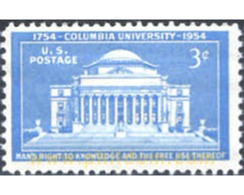 Ref. 161574 * MNH * - UNITED STATES. 1954. BICENTENARIO DE LA FUNDACION DE LA UNIVERSIDAD DE COLUMBIA - Vereinigte Staaten
