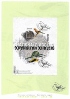 2019 Belgien Mi. Bl. 239 Used First Day Sheet Europa – Einheimische Vögel. - 2019