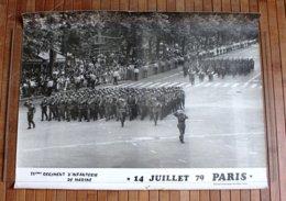 Photo - Défilé Du 14 Juillet 1979 à Paris 54e RIMA - Documents