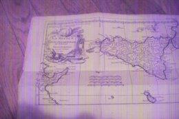CARTE DE LA SICILE DE 1740 POUR L'HISTOIRE ROMAINE DE Mr ROLLIN PAR LE SIEUR D'ANVILLE GEOGRAPHE DU ROY - Cartes Géographiques