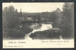 1.1 // CPA - Vallée De L'Ermeton - Ruines De L'ancienne Scierie De SOULME - Nels Série 7 N° 156    // - Doische