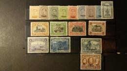 """Belgique - Timbres De L'occupation: Timbres Poste 1915-19 Avec Surcharge """"Eupen""""  . Numéro OC84/100 état Charnière - Guerre 14-18"""