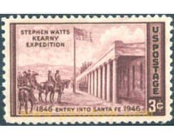 Ref. 247926 * MNH * - UNITED STATES. 1946. CENTENARY OF THE ENTRY INTO SANTA FE OF THE STEPHEN WATTS KEARNY EXPEDITION . - Flags