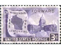 Ref. 310904 * MNH * - UNITED STATES. 1948. CENTENARIO DEL ESTADO DE WISCONSIN - United States