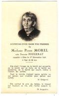 Image Mortuaire  Mme Pierre Morel Née Jeanne Fougerat - Devotion Images