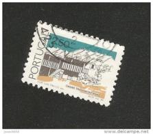 N° 1659 Maison De Tramontanas 2,50  Timbre Portugal Oblitéré 1986 - Oblitérés