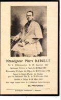 Image Mortuaire   Monseigneur Pierre Dadolle - Images Religieuses