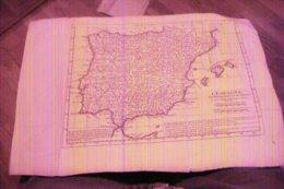CARTE D'ESPAGNE 1741 POUR L'HISTOIRE ROMAINE DE Mr ROLLIN PAR LE SIEUR D'ANVILLE GEOGRAPHE DU ROY - Cartes Géographiques