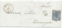Brief - Mi 6a - Ettelbrück (Losanges) 27 Dec 1860 Nach Weiswampach (geprüft F.S.P.L.) - 1859-1880 Armoiries