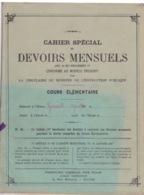 ANCIEN CAHIER SPECIAL - DEVOIRS MENSUELS -  ECRITURE DE 1937 - ECOLE PRIMAIRE - GENDRON LIBRAIRE A TOURS - Buvards, Protège-cahiers Illustrés
