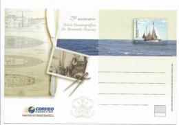 ARGENTINA 2006, SHIPS, VELERO OCEANOGRÁFICO DR. BERNARDO HOUSSAY 75TH ANNIVERSARY, SCIENCES, SAILING POSTAL STATIONERY - Interi Postali