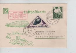 PR7408/ TP BRD S/CP Luftpostkarte Zeppelin C.Friedrischshafen 1953 > Monaco TTx Zeppelin - Zeppelins