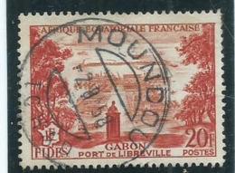 Timbre Gabon Obliteration 1958 Moundou - Gabun (1886-1936)
