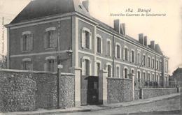 Thème   Police-Gendarmerie:     Baugé  49    La Gendarmerie      (voir Scan) - Sapeurs-Pompiers