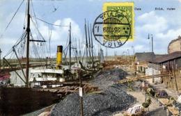 RIGA (Lettland) - Hafen, Dampfschiff, Pferdetransportwagen, Gelaufen 1929, Stempel Riga Latvija, Selt.Frank.,Nachgebühr - Lettland
