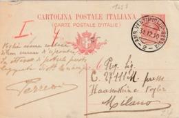 "ITALIË  :TREINPOST / AMBULANT /BAHNPOST  ""AMB. VENTIMIGLIA - GENOVA / 31.12.10 / - 2 -"" - Affrancature Meccaniche Rosse (EMA)"