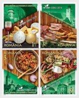 Romania 2019 / SIBIU, EUROPEAN REGION OF GASTRONOMY / Set 4 Stamps - Food