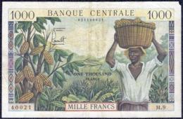 Cameroon 1000 Francs 1962 AVF P-12a  Banknote - Camerun
