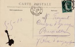"""FRANCE   :TREINPOST / AMBULANT /BAHNPOST : ZK (Givet)  AMB./CONV. """"GIVET A CHARLEVILLE / 2° / 5 JUIN 09"""" Naar BXL - Marcophilie (Lettres)"""