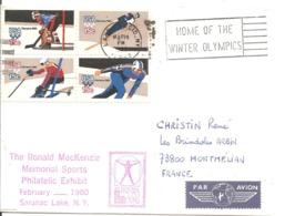 1980 Jeux Olympiques De Lake Placid :invitation Au Festival Olympique Des Arts - Winter 1980: Lake Placid