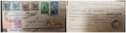 O) 1931 BRAZIL, NON RECLAME - NON CLAIM, REGISTERED FROM PELOTAS, DUKE OF CAXIAS, BARTHOLOMEU DE GUSMAO, RUY BARBOSA, B - Brazil