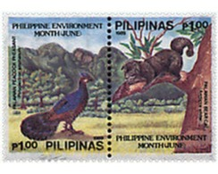 Ref. 313428 * MNH * - PHILIPPINES. 1989. JUNE. PHILIPPINE MONTH OF THE ENVIRONMENT . JUNIO. MES FILIPINO DEL MEDIO AMBIE - Birds
