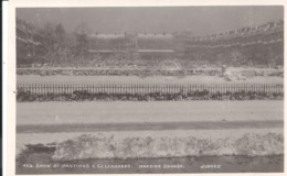 REAL PHOTOGRAPHIC POSTCARD - SNOW AT HASTINGS & ST. LEONARDS - WARRIOR SQUARE - JUDGES - Hastings