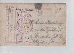 PR7409/ CP Photo PDG-POW Camp De Paderborn 1916 Censure - Geprüft  F.A. > BXL - WW I